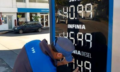 YPF aumento combustibles