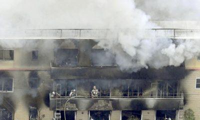 Incendio estudio Kioto