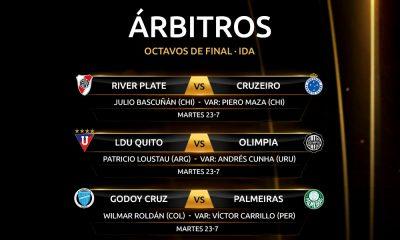 Sorteo árbitros Libertadores