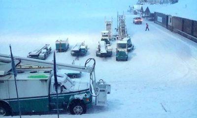 Por la nieve, cerraron el aeropuerto de Bariloche