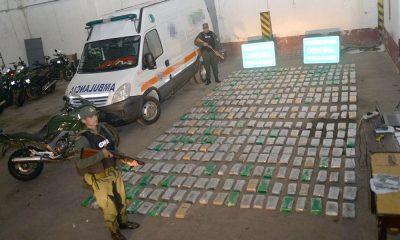 Hallan casi 400 kilos de marihuana en una ambulancia en Corrientes