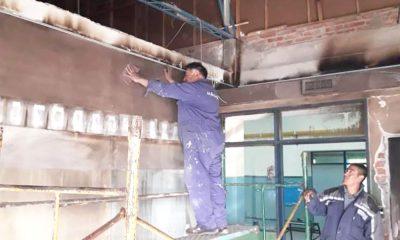 Detalles de obras en escuelas de Trelew y Puerto Madryn