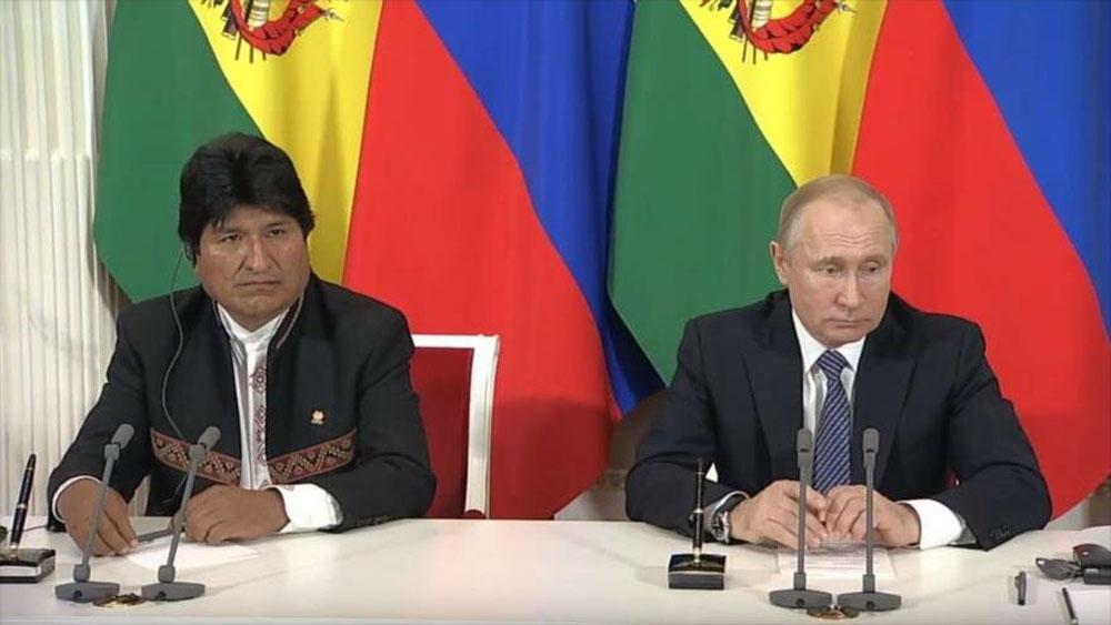 Evo Morales se reunió con Putin en Moscú