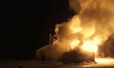 Incendio destruyó un destacamento de Gendarmería en TdF