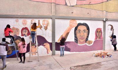 Mural para visibilizar y sensibilizar sobre la violencia de género