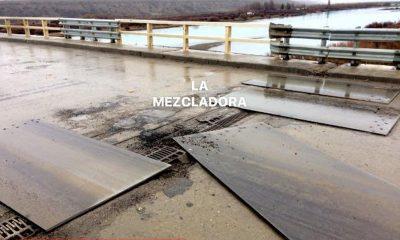 Denuncian nuevo desprendimiento en el puente sobre el Río Santa Cruz