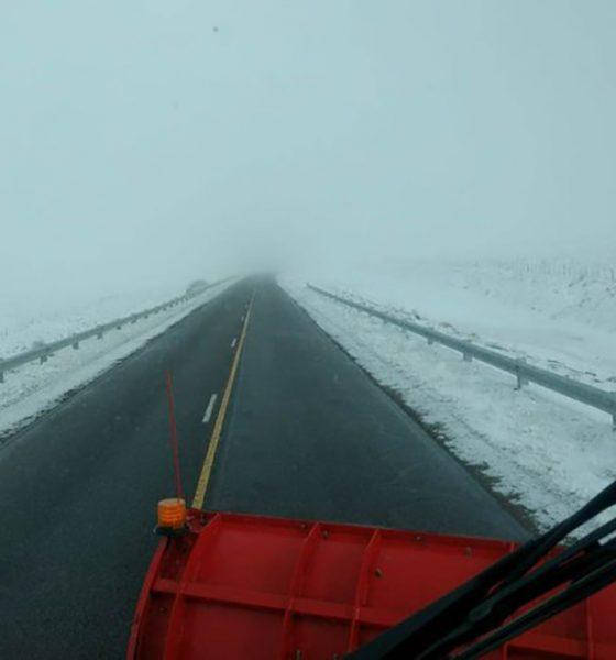 Lluvia y nieve: estado de las Rutas de Chubut este domingo