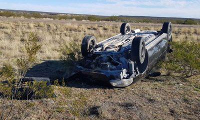 Auto volcó al sur de Arroyo Verde, en la Ruta 3