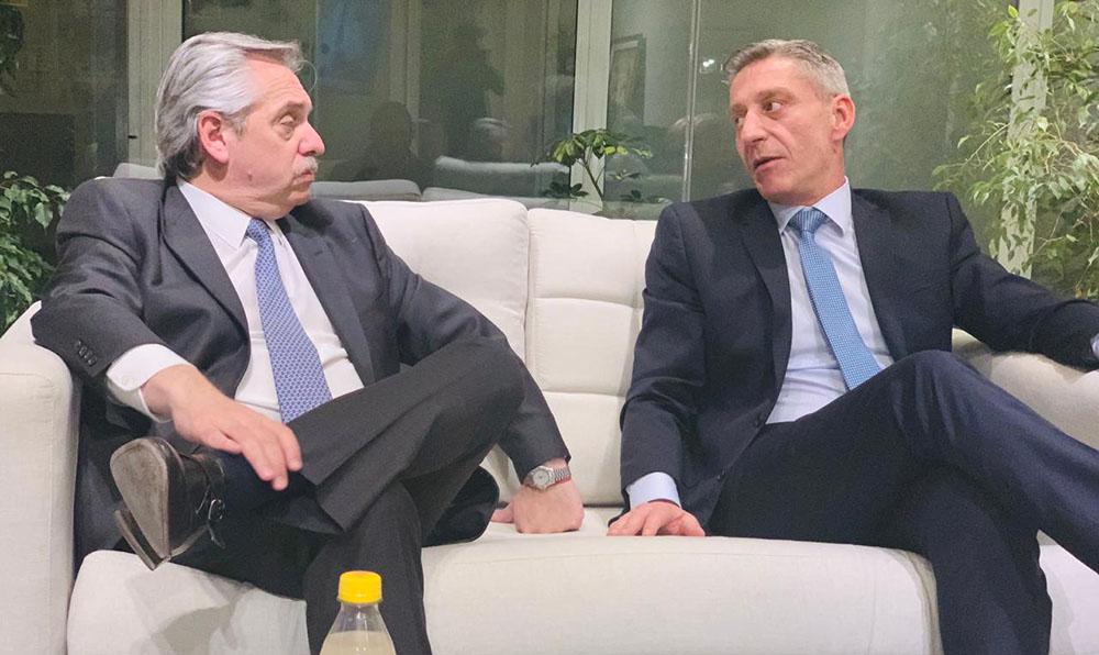 Alberto Fernández recibió al gobernador Arcioni