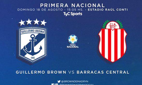 Guillermo Brown debut Primera Nacional