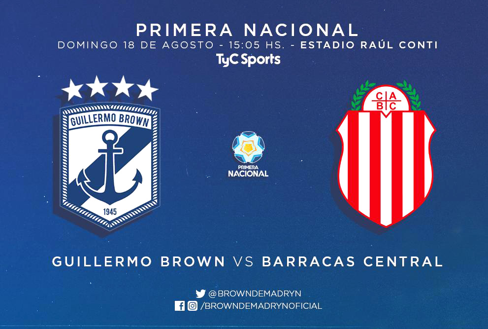 Brown debut Primera Nacional