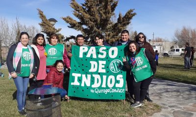 Actividades y reclamo de estatales en Paso de Indios