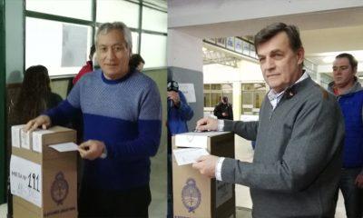 Los precandidatos del oficialismo votaron en Trelew