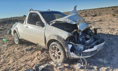Dos personas graves tras chocar con un guanaco en la Ruta 3