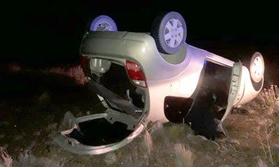 Una mujer volcó en la Ruta 3 y fue trasladad a Comodoro