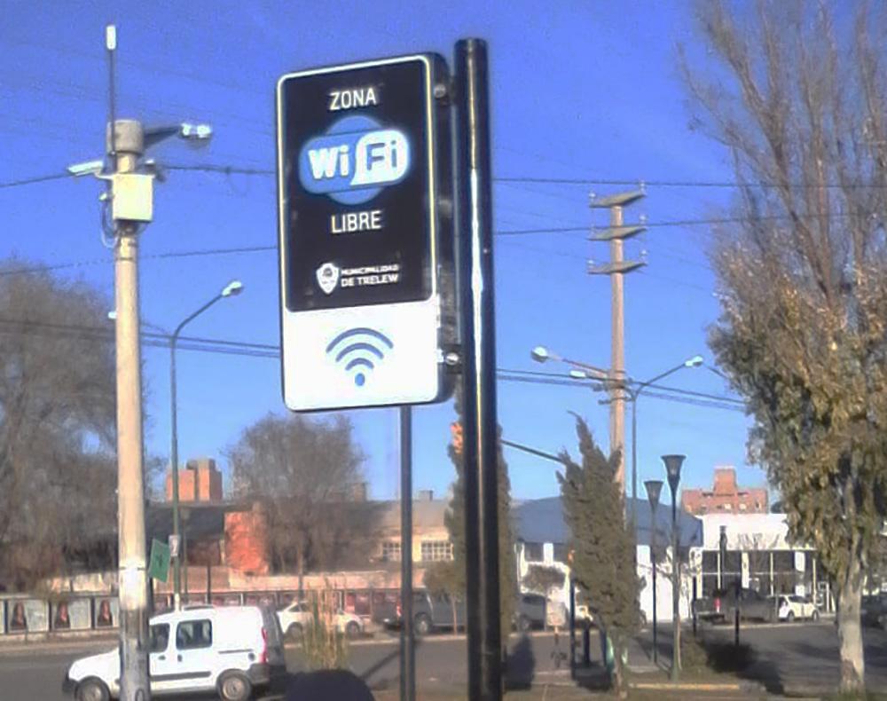Habilitaron espacios con Wi-Fi gratuito en Trelew
