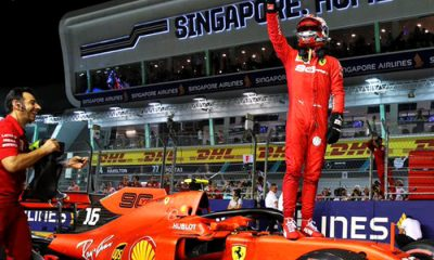 "Leclerc hizo la tercera ""pole"" consecutiva"