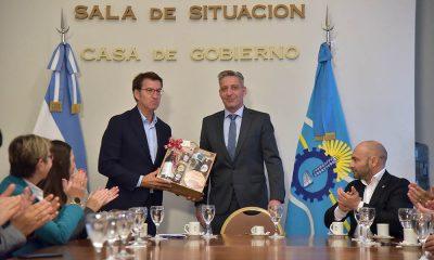 Arcioni se reunió autoridades de Galicia por la actividad pesquera