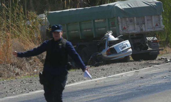 Mendoza: Cinco personas murieron en choque frontal sobre la Ruta 40