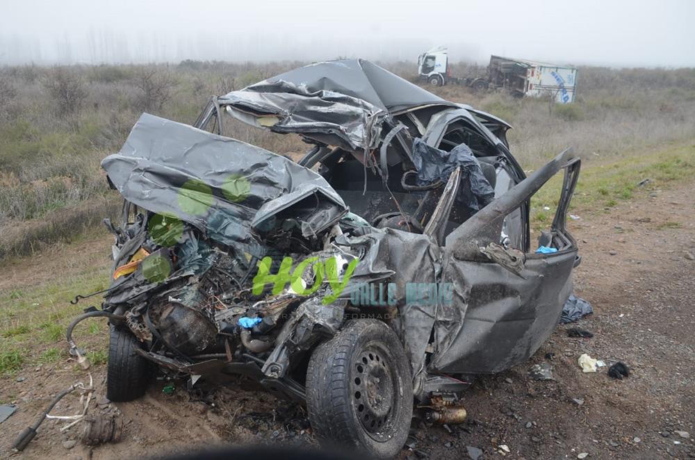 Dos personas murieron en un choque frontal sobre la Ruta 22
