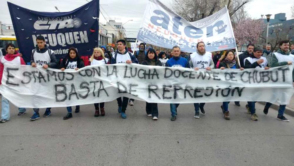 Paro y movilizaciones en la Patagonia en solidaridad con docentes de Chubut