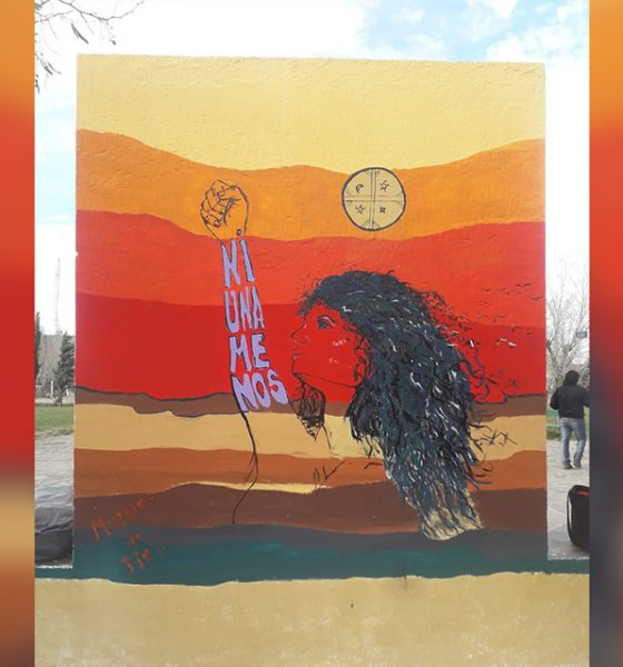 Sentido mural en Paso de Indios contra la violencia de género