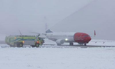 Bajo la nieve, Norwegian comenzó a volar a Ushuaia
