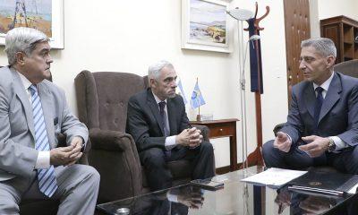 Arcioni se reunió el presidente del Superior Tribunal