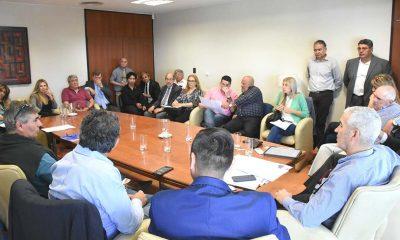 Diputados se reunieron con dirigentes funcionarios por la boleta única