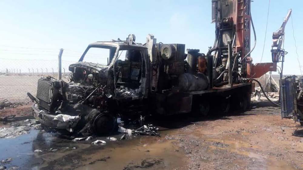 Añelo: Un camión se prendió fuego cuando hacía una perforación de agua