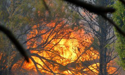 Incendio impresionante