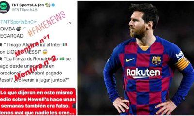 Messi enojado TNT Sports