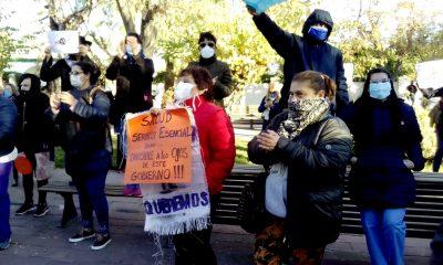 Masiva marcha de estatales pandemia