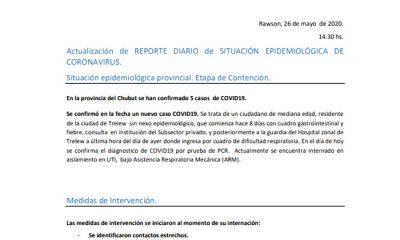 Quinto caso confirmado en Chubut