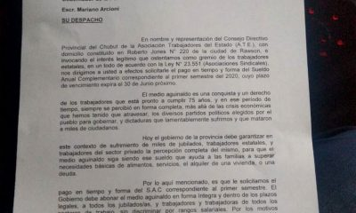 ATE rechazo aguinaldo en cuotas