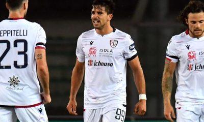 Gol de Gio Simeone en la derrota del Cagliari