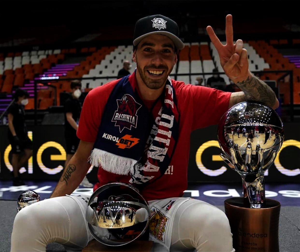 Lucas Vildoza campeón y figura con el Baskonia