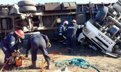 Camionero murió en un vuelco en la Ruta 3