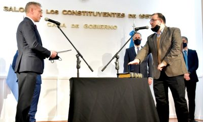 Arcioni le tomó juramento a Hermida como ministro de Desarrollo Social