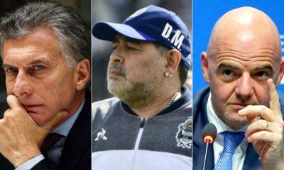 Maradona decepcionado con Infantino por Macri