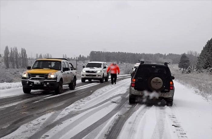 Ruta 259 hielo y nieve visibilidad reducida