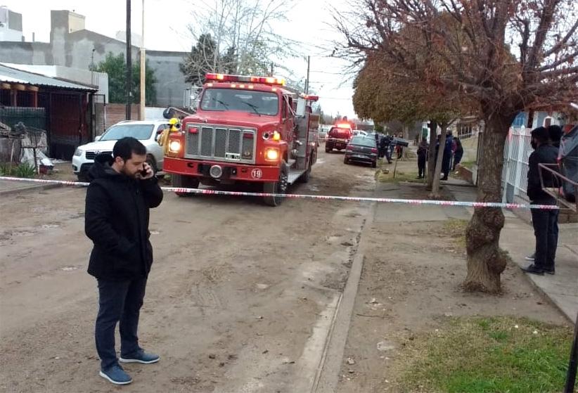 Incendio y presunto homicidio en Madryn