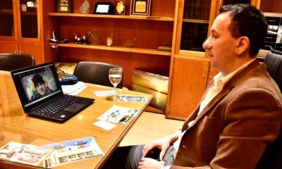 Maderna video conferencia Evo Morales
