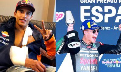 Moto GP Márquez fractura y Quartararo primero triunfo