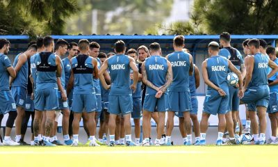 Racing ocho jugadores entrenan en Rosario