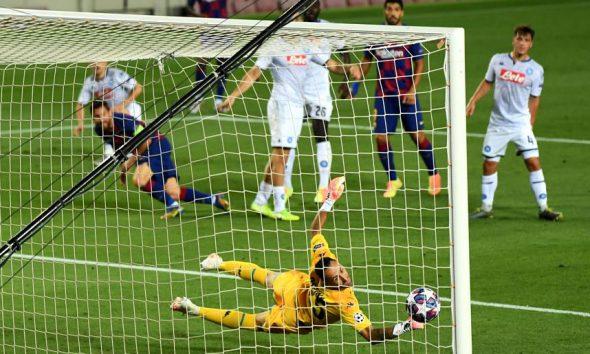 Messi brillante golazo para el Barcelona ante Napoli