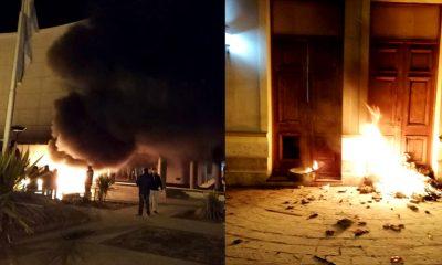 Massoni denuncia Flores Torres incendios Legislatura y Gobierno
