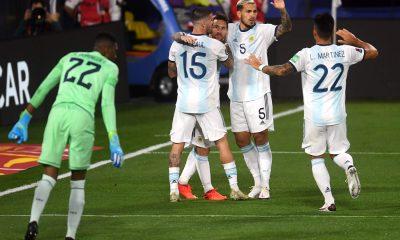 Argentina sólo festejó el penal de Messi