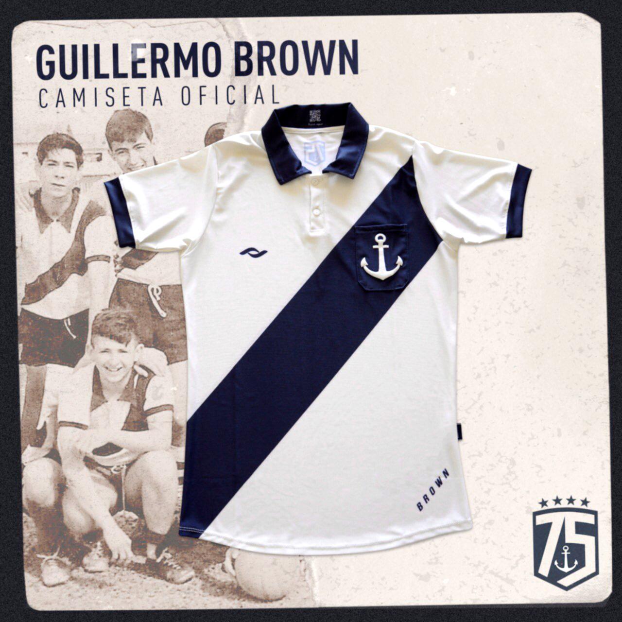 Brown camiseta alegórica 75 años