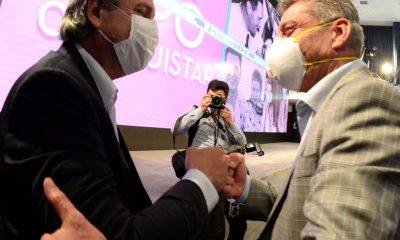 Arcioni con el Presidente en el acto central por el Día de la Lealtad